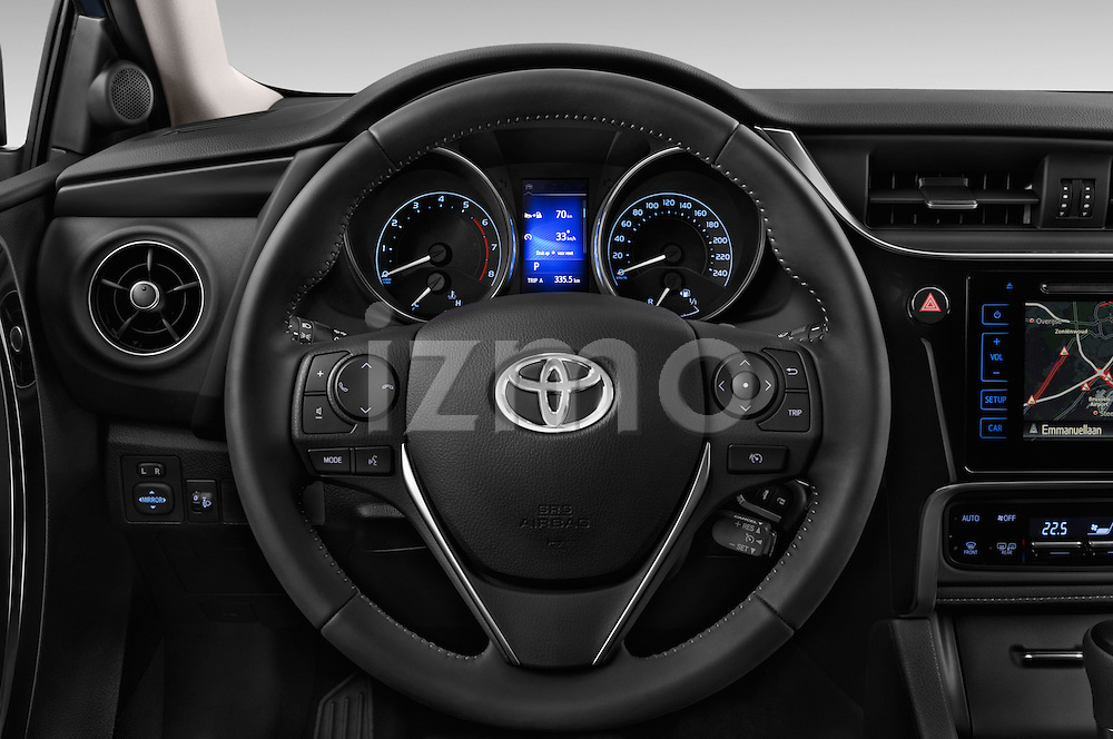 Car pictures of steering wheel view of a 2015 Toyota Auris Dynamic 5 Door Hatchback Steering Wheel