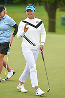 Jin Young Ko (KOR) after sinking her putt on 11 during the round 2 of the KPMG Women's PGA Championship, Hazeltine National, Chaska, Minnesota, USA. 6/21/2019.<br /> Picture: Golffile | Ken Murray<br /> <br /> <br /> All photo usage must carry mandatory copyright credit (© Golffile | Ken Murray)