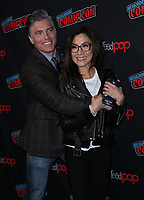 NEW YORK, NY - OCTOBER 6: ,Anson Mount, Michelle Yeoh, at the panel discussion for the new season of the CBS series Star Trek: Discovery during New York Comic Con 2018 at The Hulu Theater at Madison Square Garden in New York City on October 6, 2018. <br /> CAP/MPI/RW<br /> &copy;RW/MPI/Capital Pictures
