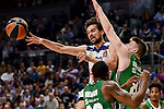 Real Madrid's Sergio Llull during quarter final of Turkish Airlines Euroleague match between Real Madrid and Darussafaka Dogus at Wizink Center in Madrid, April 20, 2017. Spain.<br /> (ALTERPHOTOS/BorjaB.Hojas)