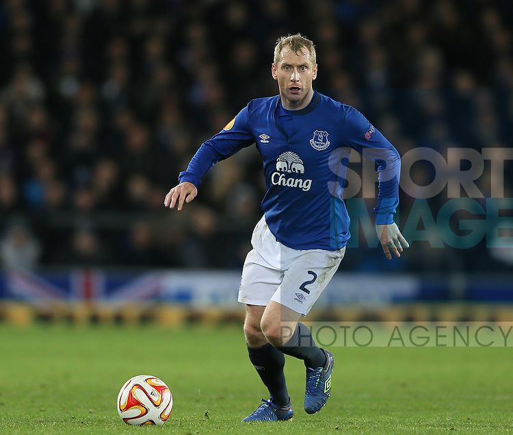 Tony Hibbert of Everton - UEFA Europa League - Everton vs  Lille - Goodison Park Stadium - Liverpool - England - 6th November 2014 - Pic Simon Bellis/Sportimage