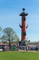 Rostral Column On Vasilievksy Island, St. Petersburg