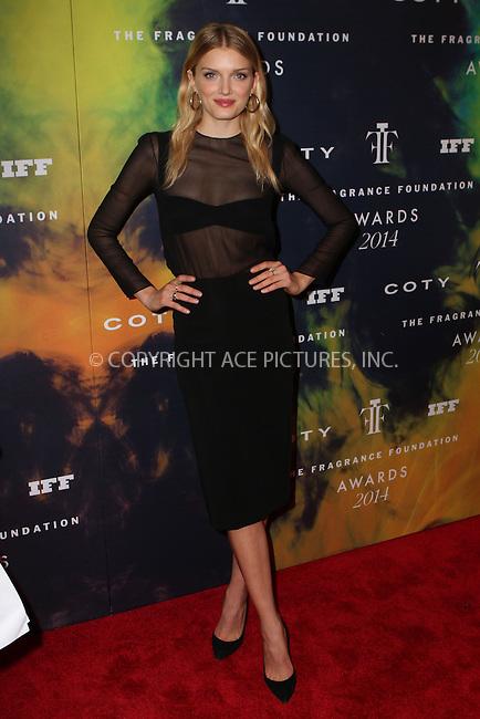 ACEPIXS.COM<br /> <br /> June 16 2014, New York City<br /> <br /> Lily Donaldson arriving at the 2014 Fragrance Foundation Awards on June 16, 2014 in New York City<br /> <br /> <br /> By Line: Nancy Rivera/ACE Pictures<br /> <br /> ACE Pictures, Inc.<br /> www.acepixs.com<br /> Email: info@acepixs.com<br /> Tel: 646 769 0430