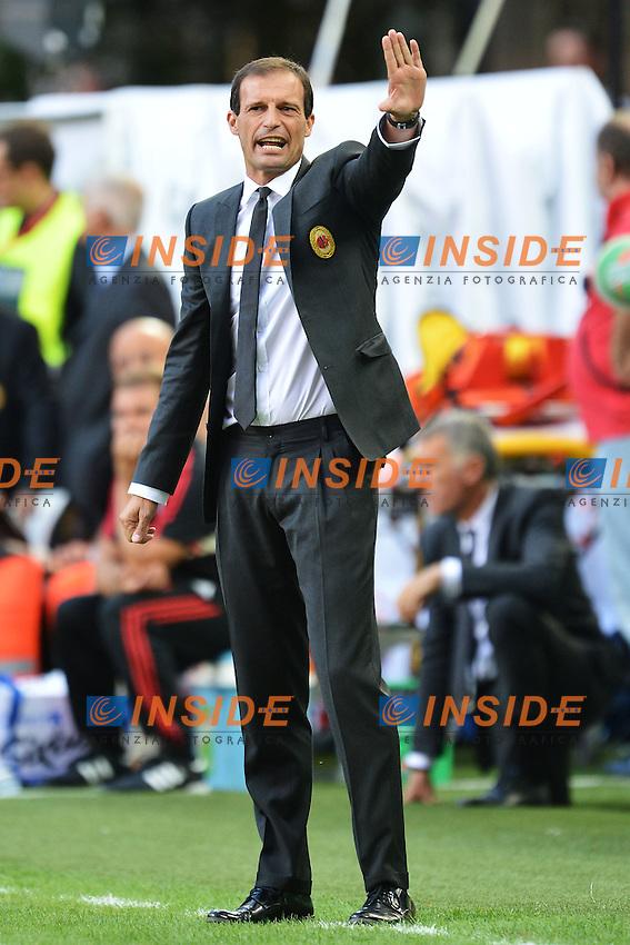 """Massimiliano Allegri allenatore Milan.Milano 26/8/2012 Stadio """"San Siro - Giuseppe Meazza"""".Football Calcio 2012/2013 Serie A.Milan Vs Sampdoria.Foto Andrea Staccioli Insidefoto"""