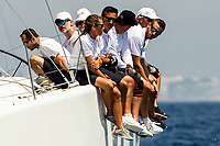 King Felipe VI of Spain sails on Aifos Ship as participant in the 36th king of spain sailing cup