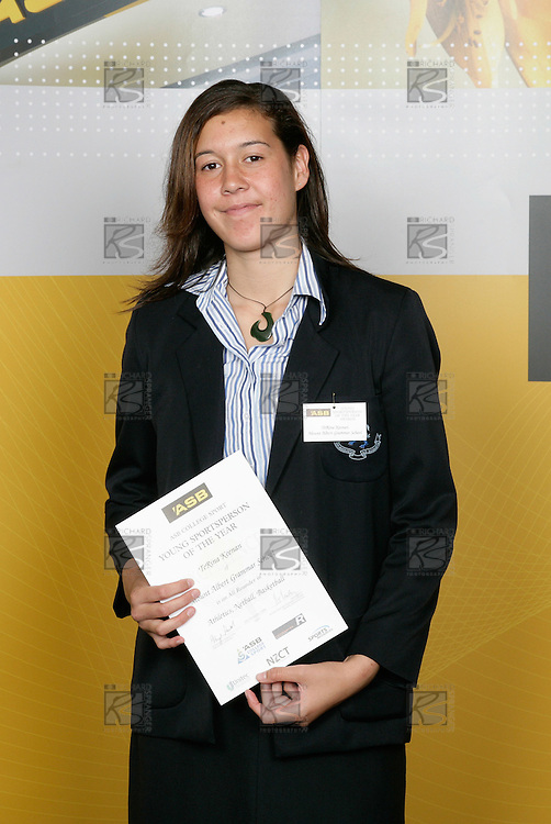 TeRina Keenean, Mt Albert Grammar School, All Rounder - Athletics, Netball, Basketball. ASB College Sport Young Sportsperson of the Year Awards 2006, held at Eden Park on Thursday 16th of November 2006.<br />