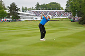 Chris WOOD (ENG) on the 18th during the final round of the 2015 BMW PGA Championship over the West Course at Wentworth, Virgina Water, London. 24/05/2015<br /> Picture Fran Caffrey, www.golffile.ie