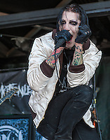 Motionless in White performs at the Vans Warped Tour in Atlanta, GA on July 26, 2012.  Copyright © 2012 by HIGH ISO Music, LLC.