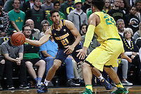 EUGENE, OR - January 19, 2017: Cal Bears Men's Basketball team vs. the Oregon Ducks at Matthew Knight Arena. Final score, Cal Bears 63, Oregon Ducks 86.