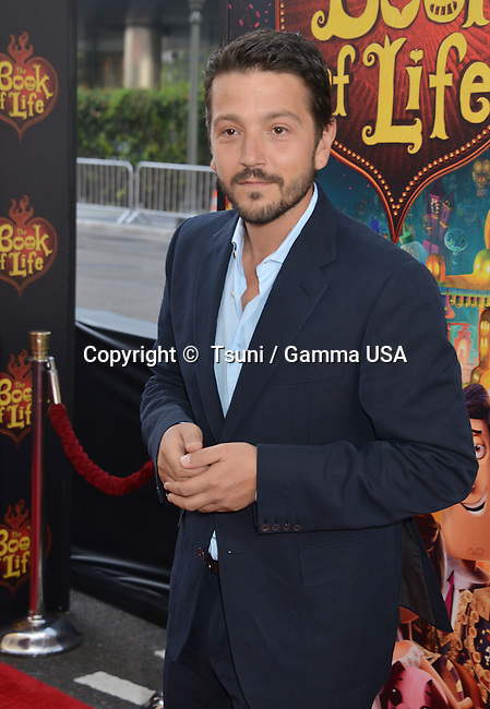 Diego Luna  at the Book Of Life Premiere at the Regal Theatre in Los Angeles.