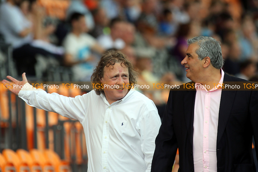 Pete Winkelman, MK Dons chairman, looks impressed as he is shown around Barnet's new ground by their chairman, Tony Kleanthous - Barnet vs MK Dons - Friendly Football Match at The Hive Stadium, Canons Park, London - 27/07/13 - MANDATORY CREDIT: Paul Dennis/TGSPHOTO - Self billing applies where appropriate - 0845 094 6026 - contact@tgsphoto.co.uk - NO UNPAID USE