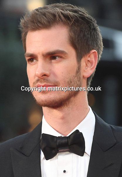 NON EXCLUSIVE PICTURE: MATRIXPICTURES.CO.UK<br /> PLEASE CREDIT ALL USES<br /> <br /> WORLD RIGHTS<br /> <br /> English actor Andrew Garfield attends the European Premiere of Breathe during 61st BFI London Film Festival Opening Night Gala in London.<br /> <br /> OCTOBER 4th 2017<br /> <br /> REF: RHD 172333