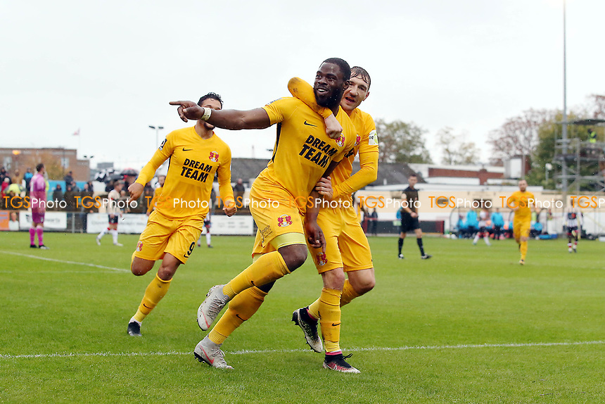 O's James Alabi scores O's 2nd goal and celebrates with Craig Clay during Maidenhead United vs Leyton Orient, Vanarama National League Football at York Road on 6th October 2018