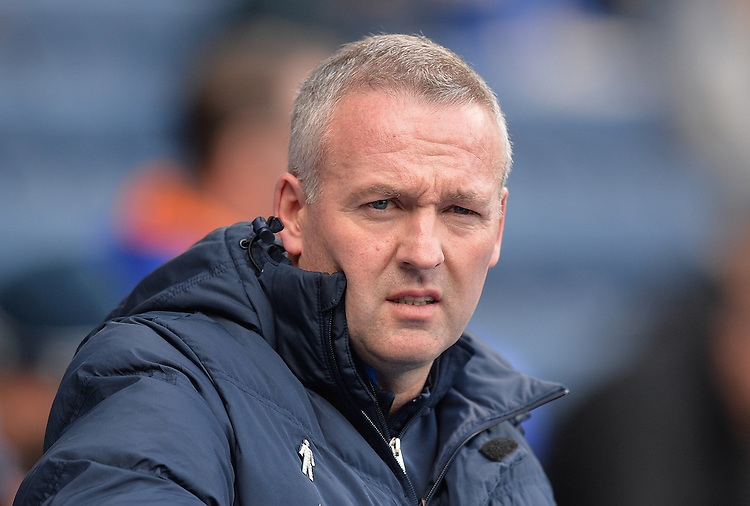 Blackburn Rovers' Manager Paul Lambert<br /> <br /> Photographer Dave Howarth/CameraSport<br /> <br /> Football - The Football League Sky Bet Championship - Blackburn Rovers v Huddersfield Town - Saturday 16th April 2016 - Ewood Park - Blackburn<br /> <br /> &copy; CameraSport - 43 Linden Ave. Countesthorpe. Leicester. England. LE8 5PG - Tel: +44 (0) 116 277 4147 - admin@camerasport.com - www.camerasport.com