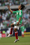 June 08 2008:  Francisco Arce (Santos Laguna) (15) of Mexico celebrates his goal.  During the third and final match of Mexico's 2008 USA Tour in preparation for qualification for FIFA's 2010 World Cup, the national soccer team of Mexico defeated Peru 4-0 at Soldier Field, in Chicago, IL.