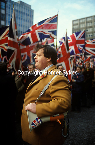 Martin Webster National Front meet and march to the Cenotaph London 1980