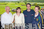 John, Elaine, Padraig and Aisling O'Sullivan Caherciveen studying the form at the Killarney Races on Monday