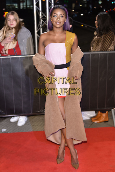 Justine Skye<br /> The Naked Heart Foundation Fabulous Fund Fair, at The Roundhouse, Camden, London, England on February 21,  2017.<br /> CAP/Phil Loftus<br /> &copy;Phil Loftus/Capital Pictures