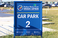 Car park 2 during Round 1 of the Dubai Duty Free Irish Open at Ballyliffin Golf Club, Donegal on Thursday 5th July 2018.<br /> Picture:  Thos Caffrey / Golffile