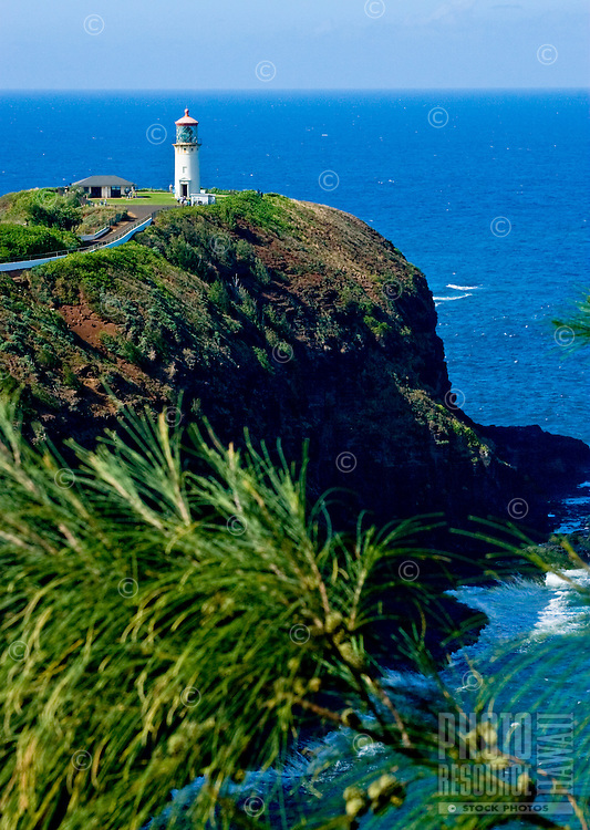 The Kilauea Lighthouse on the island of Kauai.