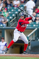 Pawtucket Red Sox outfielder Ryan Kalish #15 during an International League game against the Rochester Red Wings at Frontier Field on August 11, 2012 in Rochester, New York.  Rochester defeated Pawtucket 5-3.  (Mike Janes/Four Seam Images)