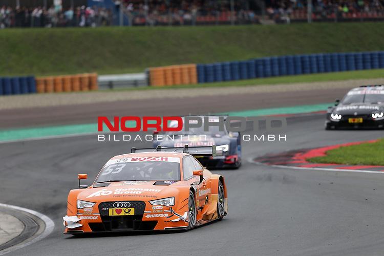 DTM 2015, 07.Lauf Oschersleben, 11.09. - 13.09.15 <br /> Jamie Green (GBR#53) Audi Sport Team Rosberg Audi RS 5 DTM , Mattias Ekstr&ouml;m (SWE#5) Audi Sport Team Abt Sportsline Audi RS 5 DTM <br /> <br /> <br /> <br /> <br /> <br /> Foto &copy; nordphoto /  Bratic