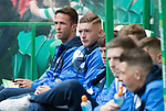 Celtic v St Johnstone &hellip;26.08.17&hellip; Celtic Park&hellip; SPFL<br />Chris Millar watches the saints players during warm-up<br />Picture by Graeme Hart.<br />Copyright Perthshire Picture Agency<br />Tel: 01738 623350  Mobile: 07990 594431
