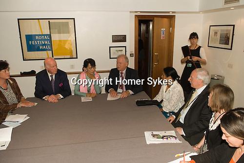 Aung San Suu Kyi. Trustees' Meeting Meeting Meeting Prospect Burma. Royal Festival Hall London UK 22 June 2012