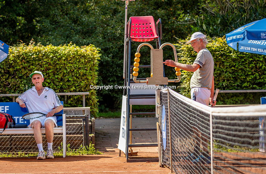 Hilversum, The Netherlands,  August 23, 2019,  Tulip Tennis Center, NSK, Wijnand van Leeuwen (NED) (R) and Kees van der Wild (NED)<br /> Photo: Tennisimages/Henk Koster