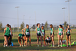 DENTON TX, SEPTEMBER 7: Mean Green women's cross country team at Discovery Park in Denton compete in the Ken Garland Invitational on September 7, 2019.