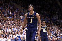 DUKE, NC - FEBRUARY 15: Juwan Durham #11 of the University of Notre Dame during a game between Notre Dame and Duke at Cameron Indoor Stadium on February 15, 2020 in Duke, North Carolina.