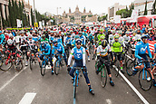 25th March 2018, Barcelona, Spain; Volta a Catalunya 2018 Cycling, Stage 7;  Alejando Valverde of Movistar Team before the Start in Av Maria Cristina Barcelona