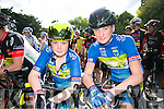 l-r  Oisin O'Sullivan and Ciaran Commane at the Finuge Freewheelers  Ring of North Kerry 2016 Cycle on Saturday