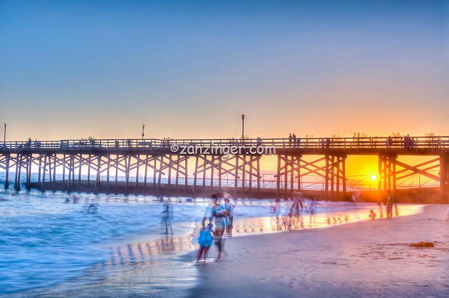 Seal Beach; CA; LA; Beach; Pier, Fantastic Sunset, Hotels, Orange County, Ocean Waves, people Tourist