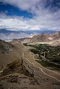 A highway snaking up the Ladakh landscape