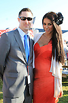 Georgia Salpa with Ronan Donnery at the Bellewstown Races 2011...(Photo credit should read Jenny Matthews www.newsfile.ie)....This Picture has been sent you under the conditions enclosed by:.Newsfile Ltd..The Studio,.Millmount Abbey,.Drogheda,.Co Meath..Ireland..Tel: +353(0)41-9871240.Fax: +353(0)41-9871260.GSM: +353(0)86-2500958.email: pictures@newsfile.ie.www.newsfile.ie.