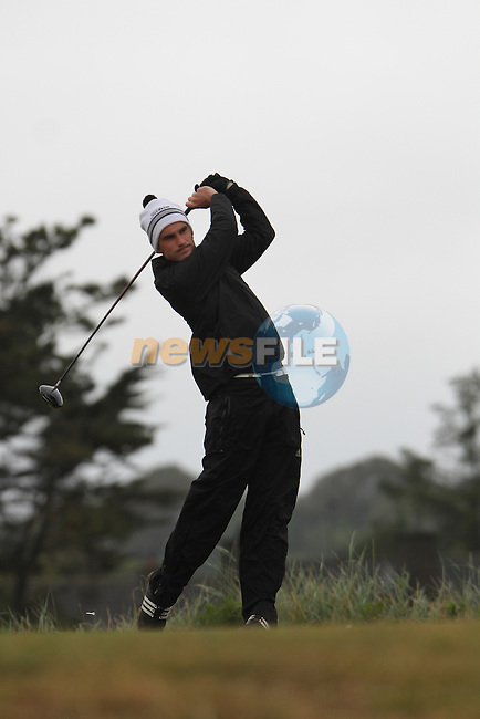 Ian O'Rourke (Cork) on the 11th Tee, Day 2 at the East of Ireland Amateur Open Championship 2011 in Co.Louth Golf Club....(Photo credit should read Jenny Matthews www.newsfile.ie)....This Picture has been sent you under the conditions enclosed by:.Newsfile Ltd..The Studio,.Millmount Abbey,.Drogheda,.Co Meath..Ireland..Tel: +353(0)41-9871240.Fax: +353(0)41-9871260.GSM: +353(0)86-2500958.email: pictures@newsfile.ie.www.newsfile.ie.
