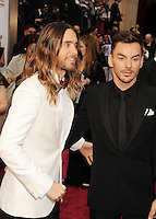 WWW.BLUESTAR-IMAGES.COM Actor Jared Leto (L) and brother Shannon Leto attend the 86th Annual Academy Awards held at Hollywood &amp; Highland Center on March 2, 2014 in Hollywood, California.<br /> Photo: BlueStar Images/OIC jbm1005  +44 (0)208 445 8588