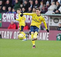 2nd February 2020; Turf Moor, Burnley, Lanchashire, England; English Premier League Football, Burnley versus Arsenal; Mesut Ozil of Arsenal passes the ball into attack
