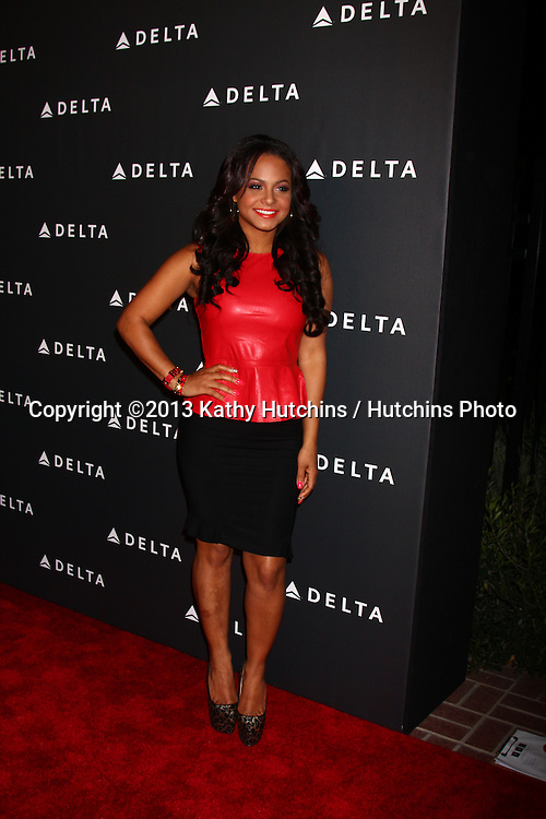 LOS ANGELES - FEB 7:  Christina Milian arrives at the Celebration of LA's Music Industry reception at the Getty House on February 7, 2013 in Los Angeles, CA