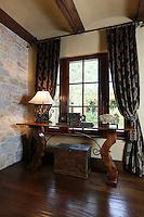 Santa Barbara inspired Tuscan foyer