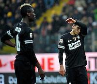 Martin Caceres delusione Juventus.Calcio Parma vs Juventus.Campionato Serie A - Parma 13/1/2013 Stadio Ennio Tardini.Football Calcio 2012/2013.Foto Federico Tardito Insidefoto.