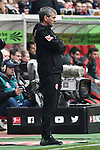 14.04.2019, Merkur Spiel-Arena, Duesseldorf, GER, DFL, 1. BL, Fortuna Duesseldorf vs FC Bayern Muenchen, DFL regulations prohibit any use of photographs as image sequences and/or quasi-video<br /> <br /> im Bild Friedhelm Funkel (Fortuna Duesseldorf) unzufrieden / enttaeuscht / niedergeschlagen / frustriert, <br /> <br /> Foto © nph/Mauelshagen