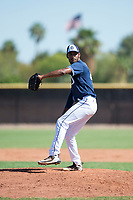 San Diego Padres relief pitcher Frank Lopez (41) delivers a pitch during an Instructional League game against the Milwaukee Brewers at Peoria Sports Complex on September 21, 2018 in Peoria, Arizona. (Zachary Lucy/Four Seam Images)