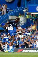 Tammy Abraham of Chelsea juggling the ball during the Premier League match between Chelsea and Sheff United at Stamford Bridge, London, England on 31 August 2019. Photo by Carlton Myrie / PRiME Media Images.