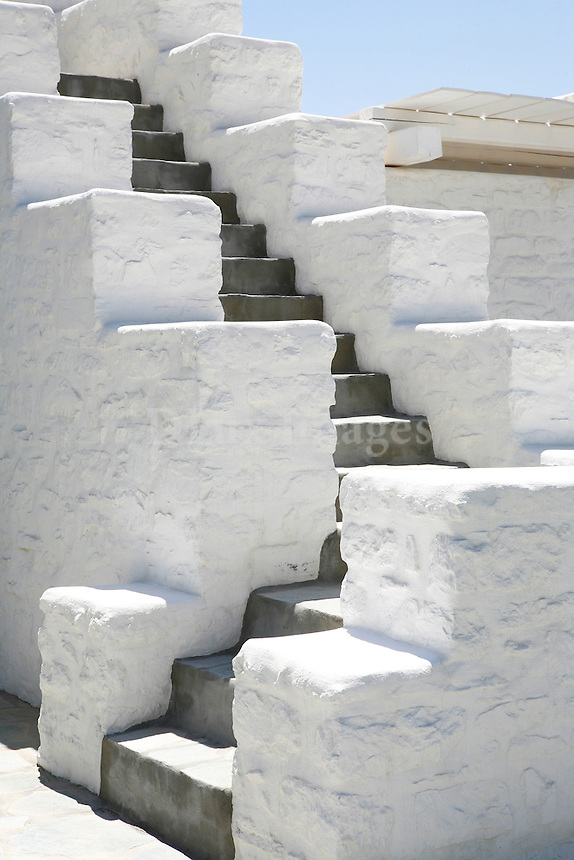 traditional white staircase