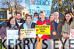 Sheila Daly, kevin Murphy, Majella Ahern, Melissa van Gromingen, Cormac O'Sullivan, Cat bracken, Tom Donovan and Sandra McSweeney who marched in the Irish Water protest in Killarney on Saturday