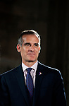 Los Angeles Mayor Ericgarcetti attending the press conference for The Academy Museum of Motion Pictures which is inder consturction and scheduled for completion in 2019.