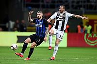 Mauro Icardi of Internazionale , Leonardo Bonucci of Juventus <br /> Milano 27-04-2019 Stadio Giuseppe Meazza <br /> Football Serie A 2018/2019 FC Internazionale - Juventus FC <br /> photo Image Sport / Insidefoto