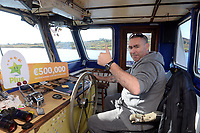 21-9-2017: Ferry operator John Harrington on Thursday.<br /> Photo: Don MacMonagle<br /> <br /> Issued on behlf of The National Lottery